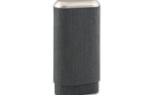 pfeifenshop: Zigarrenetui 3er - 14x7x3cm, Schwarz