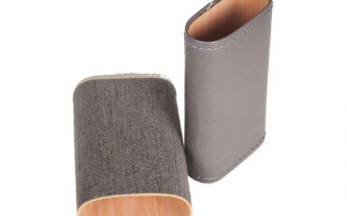 pfeifenshop: Zigarrenetui 3er - 14x7x3cm, Grau