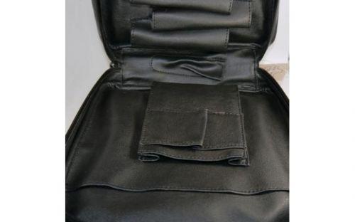 pfeifenshop: Pfeifentasche aus Leder für 7 Pfeifen - schwarz (22,5x21,5x6,5cm)