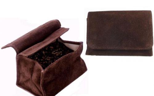 pfeifenshop: Pfeifentabak Beutel - Wildleder (11x8cm)