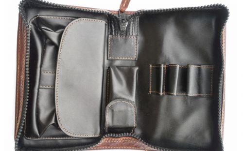 pfeifenshop: Pfeifentasche für 3 Pfeifen - aus Büffel-Leder