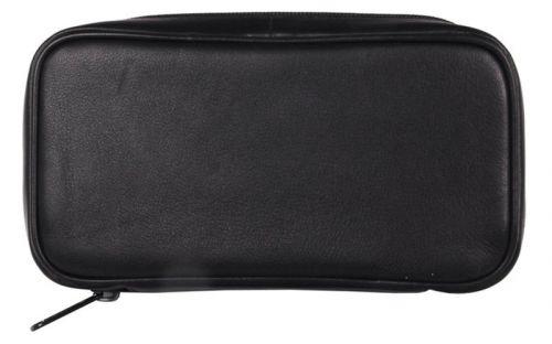 pfeifenshop: Pfeifentasche aus Leder für 3 Pfeifen - schwarz