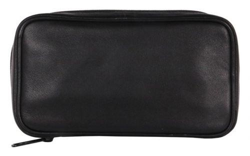 pfeifenshop: Pfeifentasche aus Leder für 4 Pfeifen - schwarz