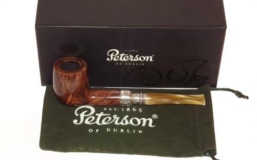 pfeifenshop: Peterson Pfeife Spigot Silver 106 Flame Grain F-lip