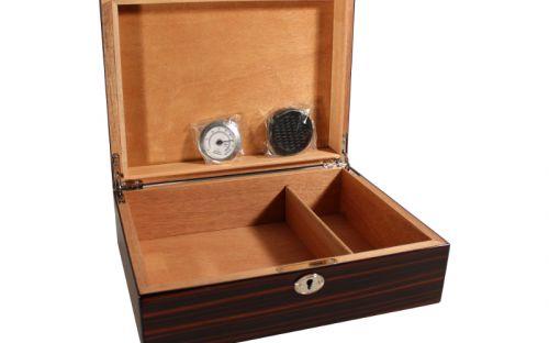 Humidor - Teak-design, aus spanischer Zeder, für 40 Zigarren