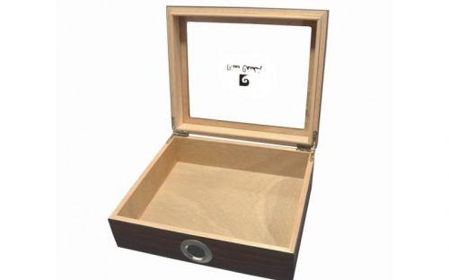 pfeifenshop: Humidor mit GeschenkSet - Braun, spanischer Zeder, für 30 Zigarren, Pierre Cardin