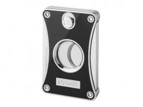 pfeifenshop: Caseti szivarvágó - fekete/ezüst