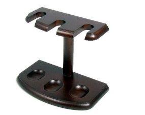 Pfeifenständer für 3 Pfeifen - dunkelbraun Holz