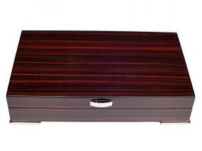 pfeifenshop: Exclusive Humidor - dunkelbraun lackierte, spanischer Zeder, für 30 Zigarren