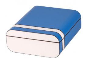 pfeifenshop: Humidor - Passatore, Blau/weiß, spanischer Zeder, für 40 Zigarren