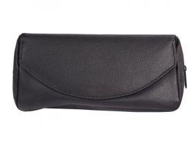 pfeifenshop: Pfeifentasche aus Leder für 1 Pfeife - schwarz