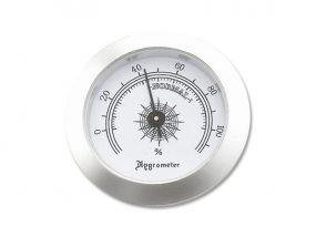 pfeifenshop: Hygrometer - 50/37 mm, silberfarbe