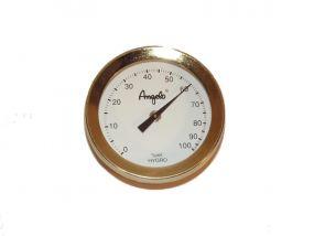 pfeifenshop: Hygrometer - 52/49mm, goldfarbe
