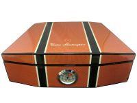 pfeifenshop: Humidor - Carbon-Orange, spanischer Zeder, für 50 Zigarren, Lamborghini